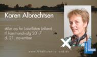 Karen Albrechtsen er kandidat for Lokallisten Lolland